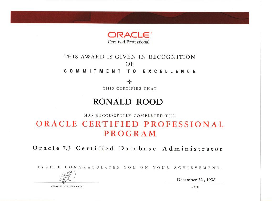 All About Oracle Certification Program Guidelines Certifications